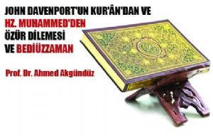 John Davenport'un Kur'an'dan ve Hz. Muhammed'den Özür Dilemesi